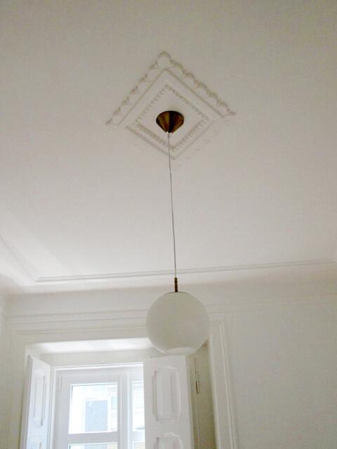 Candeeiro tecto - Depois - Apartamento av. Almirante Reis - Lisboa
