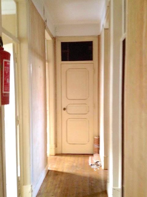 Hall de entrada - Antes - Apartamento av. Almirante Reis - Lisboa