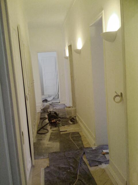 Hall de entrada - Antes - Apartamento av. Paris - Lisboa