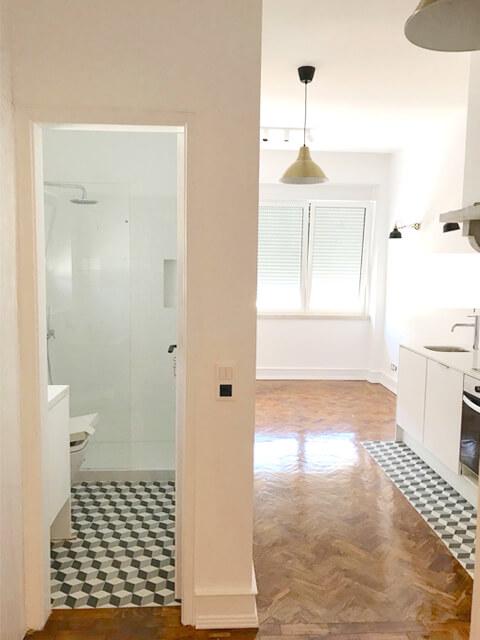 WC - Cozinha - Depois - Apartamento Estefânia - Lisboa