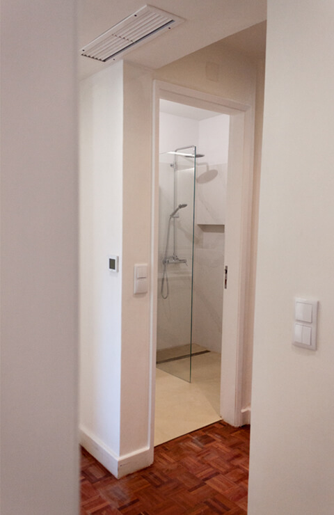 Corredor wc - Depois - Apartamento Campo de Ourique - Lisboa